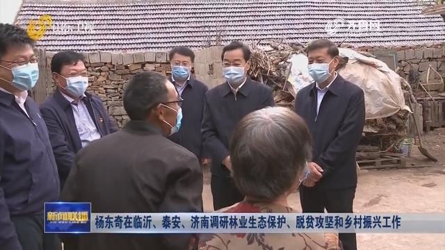 杨东奇在临沂、泰安、济南调研林业生态保护、脱贫攻坚和乡村振兴工作