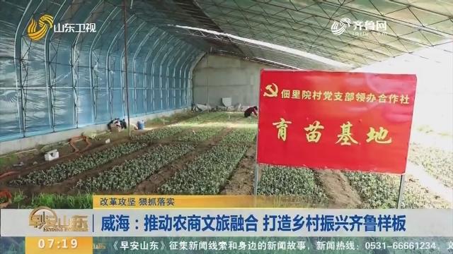 威海:推动农商文旅融合 打造乡村振兴齐鲁样板