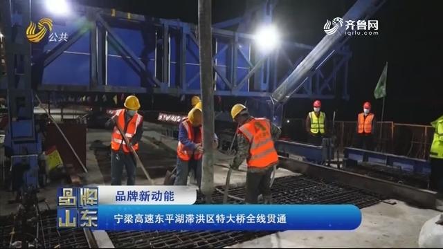 【品牌新动能】宁梁高速东平湖滞洪区特大桥全线贯通