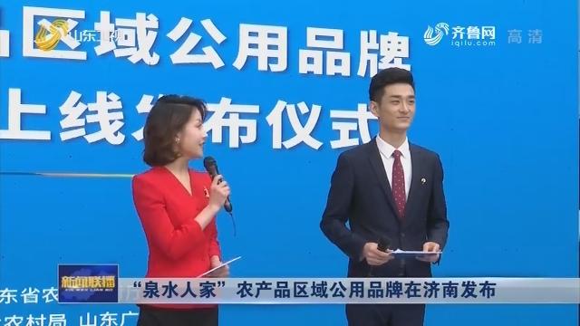 """""""泉水人家""""农产品区域公用品牌在济南发布"""