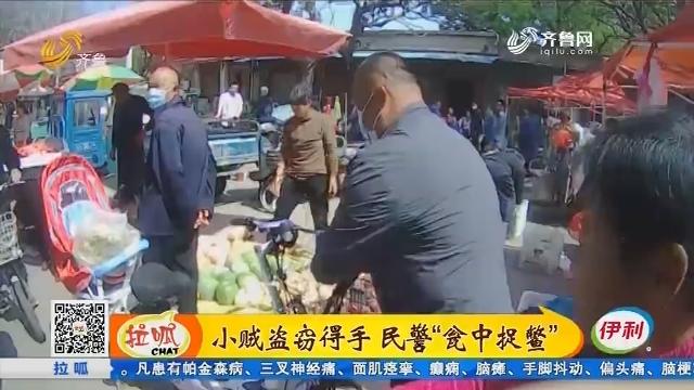 """临清:小贼盗窃得手 民警""""瓮中捉鳖"""""""