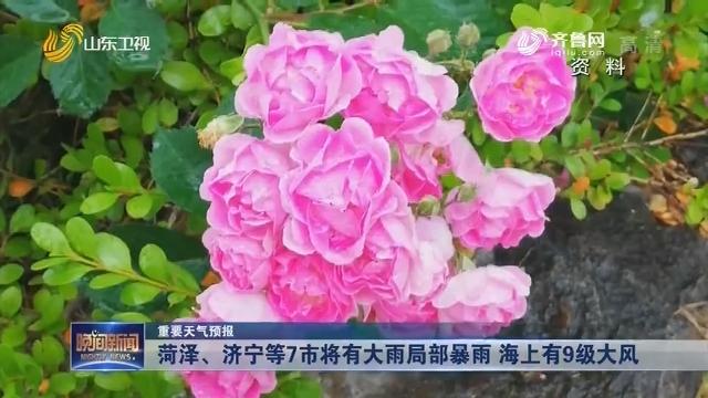 【重要天气预报】菏泽、济宁等7市将有大雨局部暴雨 海上有9级大风