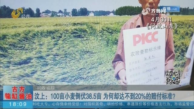 汶上:100亩小麦倒伏38.5亩 为何却达不到20%的赔付标准?