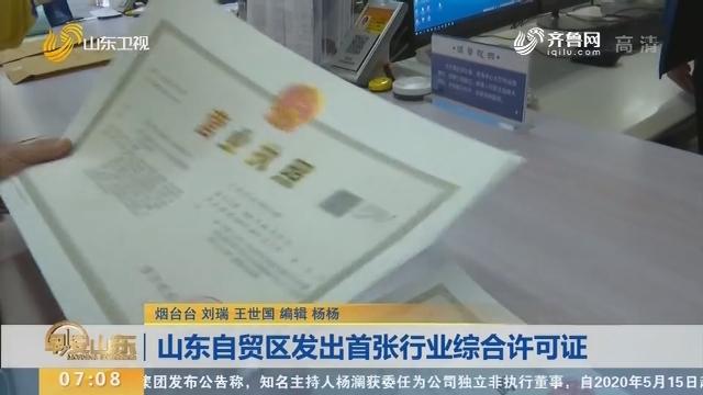 山东自贸区发出首张行业综合许可证