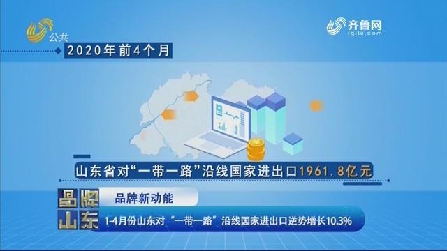 """【品牌新动能】1-4月份山东对""""一带一路""""沿线国家进出口逆势增长10.3%"""