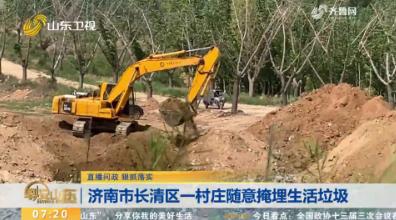 【直播问政 狠抓落实】济南市长清区一村庄随意掩埋生活垃圾