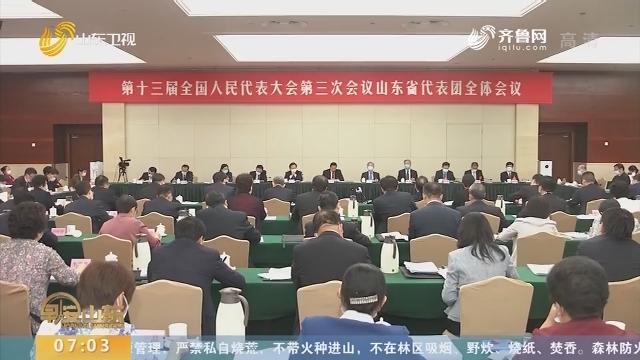 【直通全国两会】王勇参加山东代表团审议