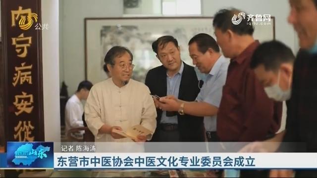 东营市中医协会中医文化专业委员会成立