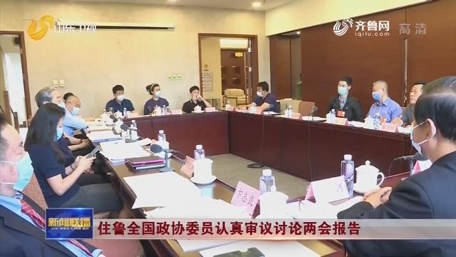 住鲁全国政协委员认真审议讨论两会报告