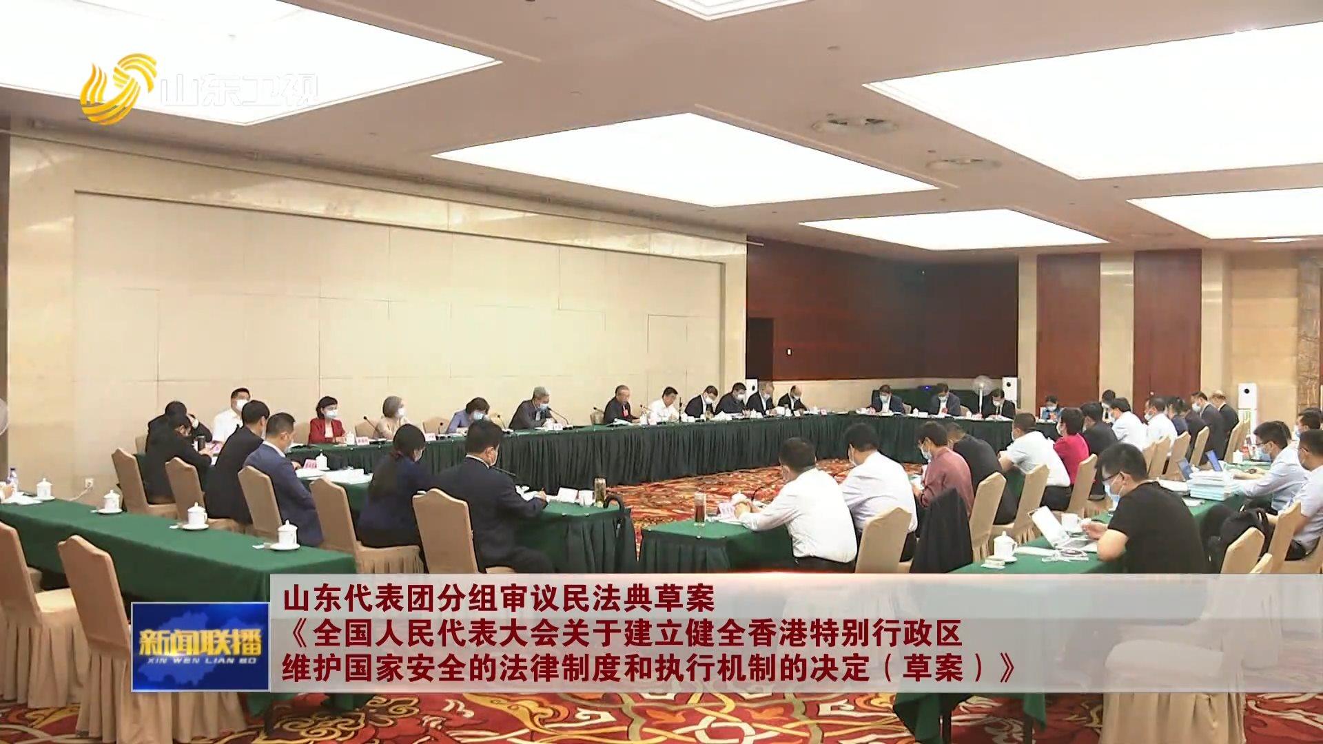 山东代表团分组审议民法典草案 《全国人民代表大会关于建立健全香港特别行政区维护国家安全的法律制度和执行机制的决定(草案)》