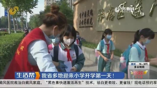 山东省多地迎来小学开学第一天!