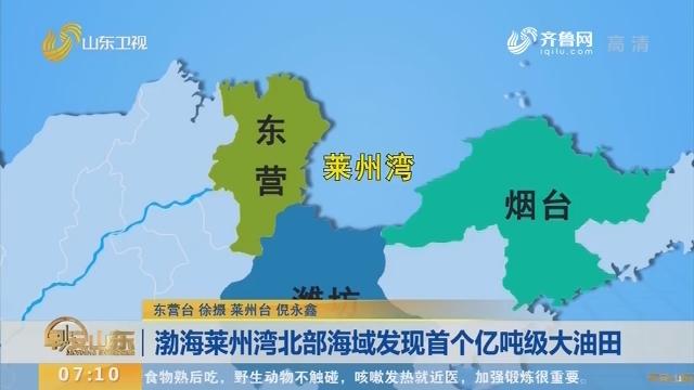 渤海莱州湾北部海域发现首个亿吨级大油田