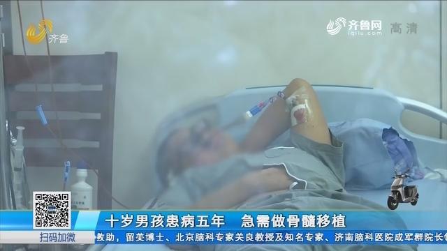 十岁男孩患病五年 急需做骨髓移植