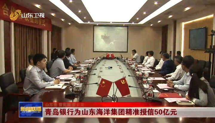 青岛银行为山东海洋集团精准授信50亿元