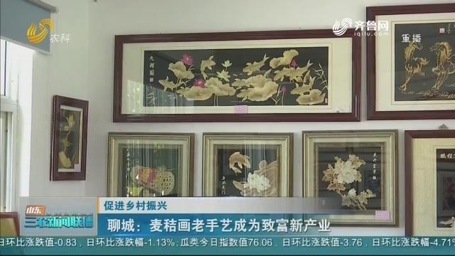 【促进乡村振兴】聊城:麦秸画老手艺成为致富新产业