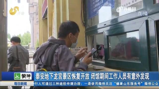 泰安地下龙宫景区恢复开放 闭馆期间工作人员有意外发现