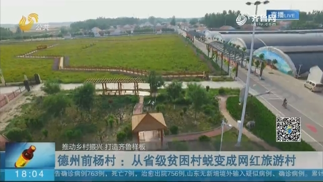 德州前杨村:从省级贫困村蜕变成网红旅游村