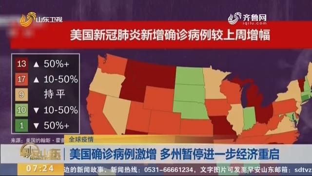 【全球疫情】美国确诊病例激增 多州暂停进一步经济重启