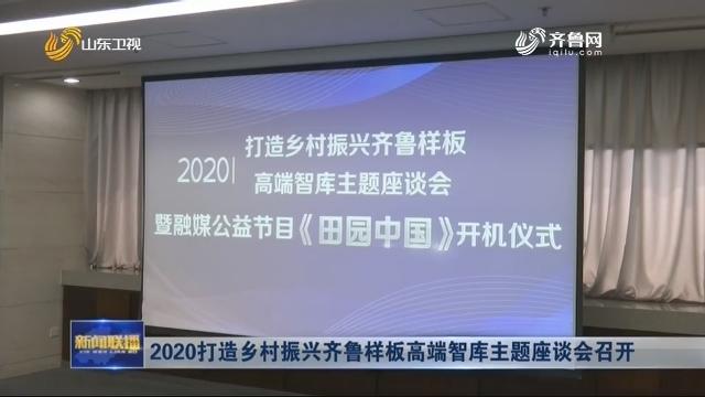 2020打造乡村振兴齐鲁样板高端智库主题座谈会召开