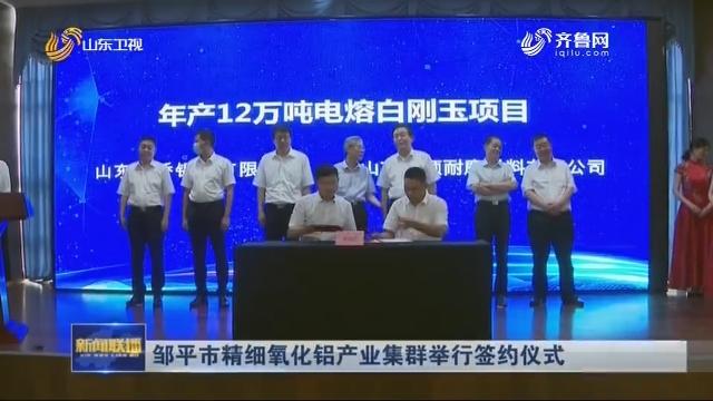 邹平市精细氧化铝产业集群举行签约仪式
