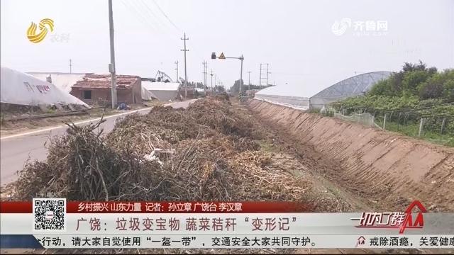 """【乡村振兴 山东力量】广饶:垃圾变宝物 蔬菜秸秆""""变形记"""""""