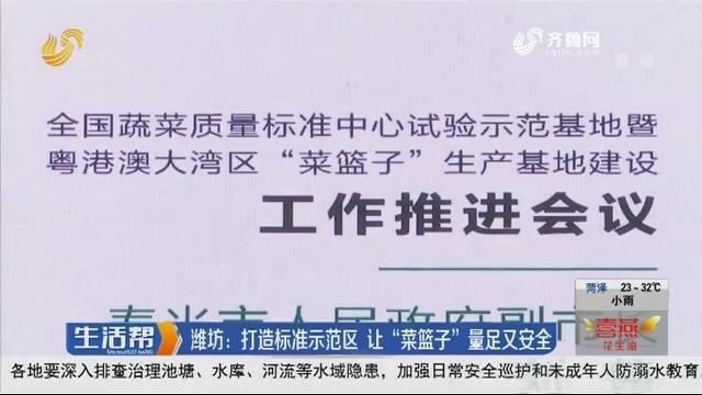 """潍坊:打造标准示范区 让""""菜篮子""""量足又安全"""