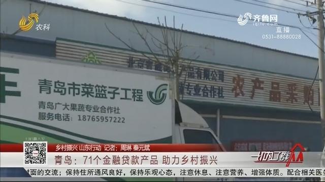 【乡村振兴 山东行动】青岛:71个金融贷款产品 助力乡村振兴