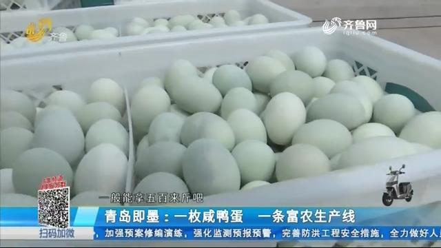 青岛即墨:一枚咸鸭蛋 一条富农生产线