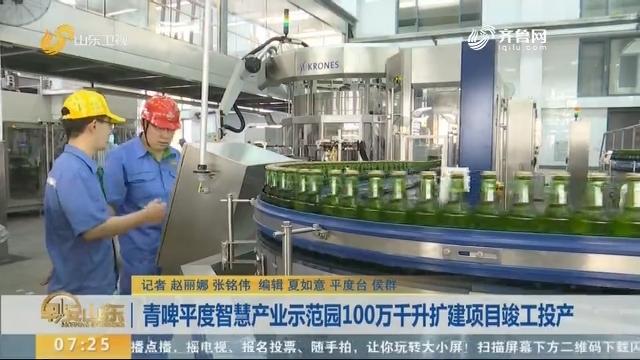 青啤平度智慧产业示范园100万千升扩建项目竣工投产