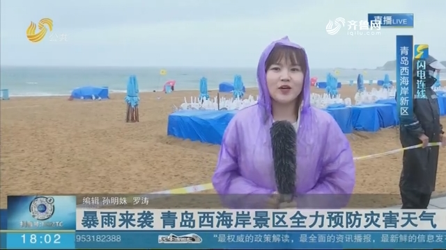 暴雨来袭 青岛西海岸景区全力预防灾害天气