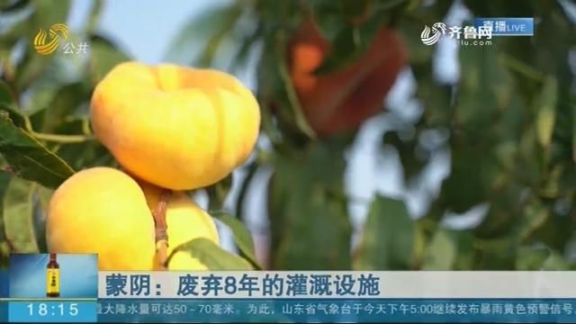 蒙阴:废弃8年的灌溉设施