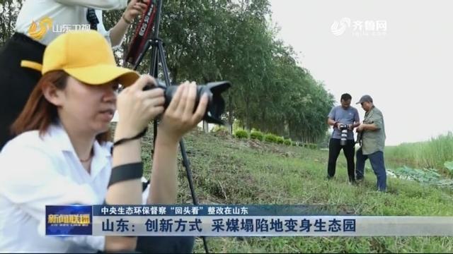 """【中央生态环保督察""""回头看""""整改在山东】山东:创新方式 采煤塌陷地变身生态园"""