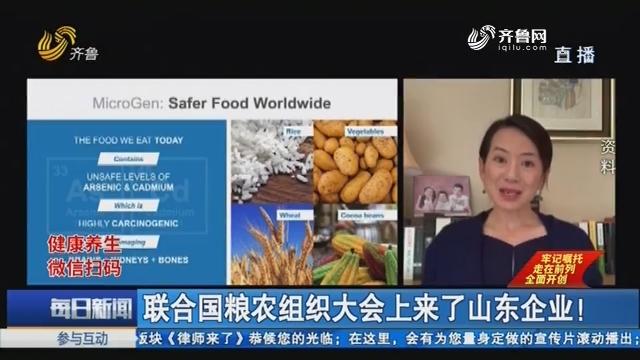联合国粮农组织大会上来了山东企业!