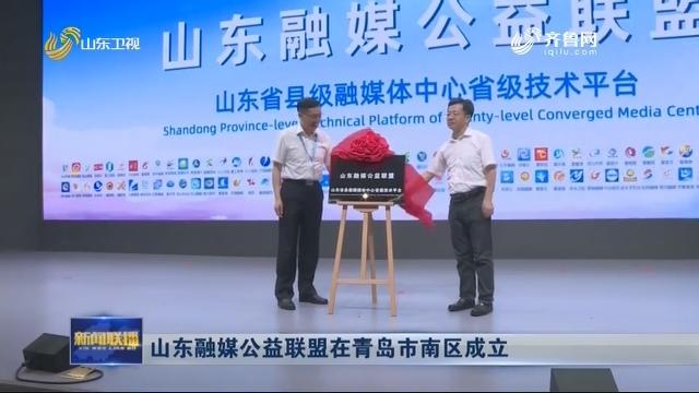 山东融媒公益联盟在青岛市南区成立