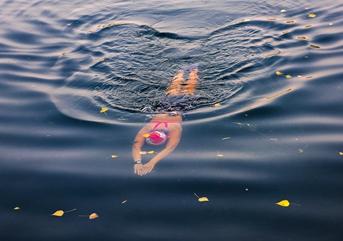 东营举办公开水域游泳比赛