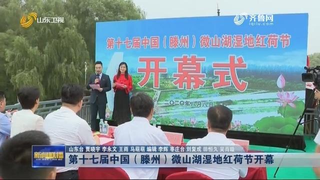 第十七届中国(滕州)微山湖湿地红荷节开幕