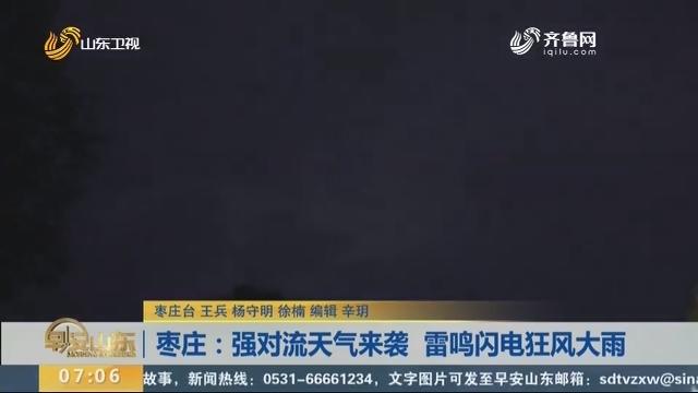 枣庄:强对流天气来袭 雷鸣闪电狂风大雨