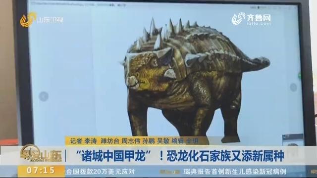 """""""诸城中国甲龙""""!恐龙化石家族又添新属种"""
