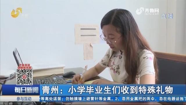 青州:小学毕业生们收到特殊礼物