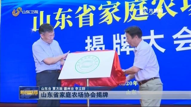 山东省家庭农场协会揭牌