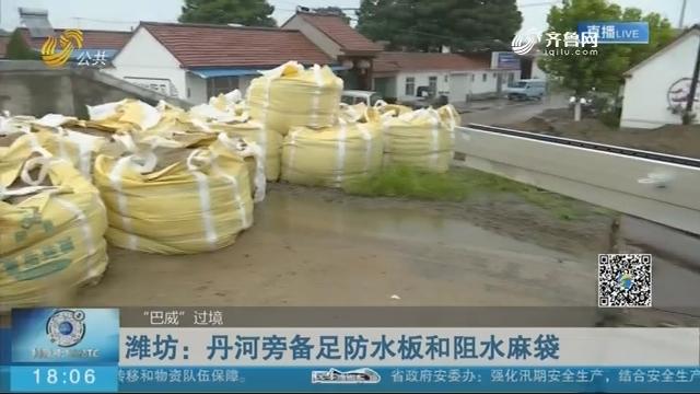 潍坊:丹河旁备足防水板和阻水麻袋