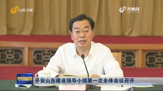 平安山东建设领导小组第一次全体会议召开