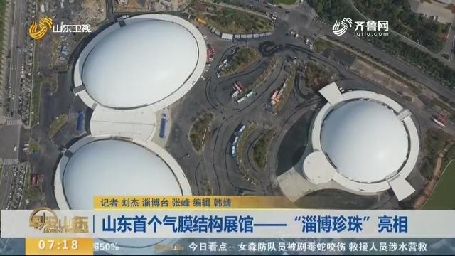"""山东首个气膜结构展馆——""""淄博珍珠""""亮相"""