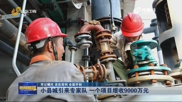 【牢记嘱托 走在前列 全面开创】小县城引来专家队 一个项目增收9000万元