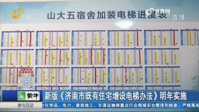 新版《济南市既有住宅增设电梯办法》明年实施