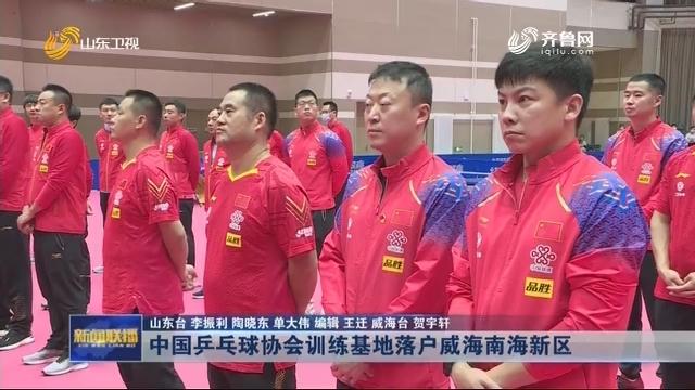 中国乒乓球协会训练基地落户威海南海新区