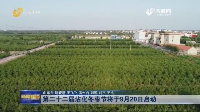 第二十二届沾化冬枣节将于9月20日启动