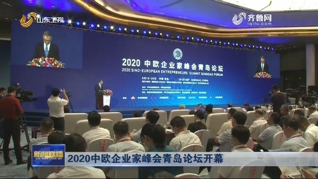 2020中欧企业家峰会青岛论坛开幕