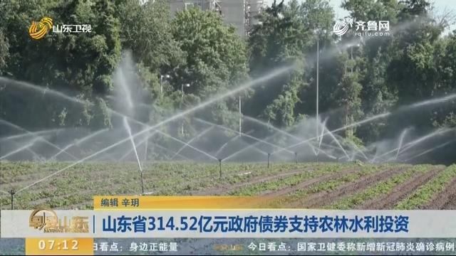 山东省314.52亿元政府债券支持农林水利投资