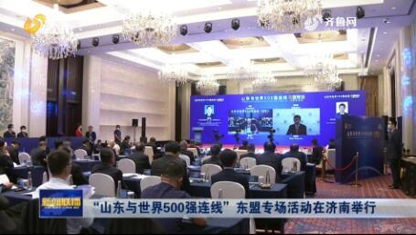 """""""山东与世界500强连线""""东盟专场活动在济南举行"""